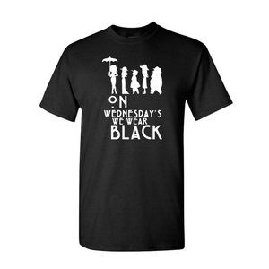Youth Kids On Wednesday We Wear Black T-Shirt